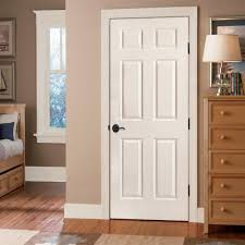 home depot prehung interior doors masonite 30 in x 80 in smooth 6 panel hollow primed