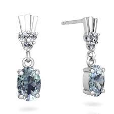 cool dangle earrings aquamarine deco dangle earrings e1881 waqua