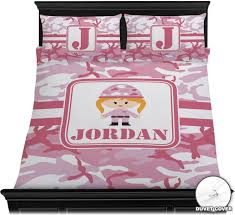 Camo Bedding Sets Queen Pink Camo Duvet Cover Set Personalized Potty Training Concepts