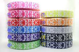 grosgrain ribbon wholesale 7 8 free shipping damask 11 colors available printed grosgrain