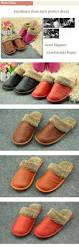 Plat Home Winter Couple U0027s Genuine Leather House Slippers At Home Platform