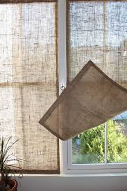 the shingled house burlap window shades for our home