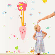 kids height measurement growth chart wall stickers removable kids height measurement growth chart wall stickers removable