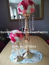 Flower Vases Centerpieces Tall Wedding Pillar Flower Stand Silver Or Gold Metal Vase