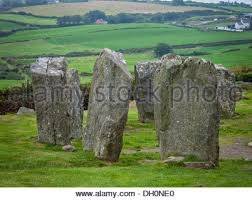 County Cork  Ireland  Standing stones of the Drombeg stone circle dating from