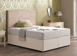 sigma pocket spring mattress and classic divan bed beige