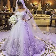great design a line long sleeve wedding dresses sheer back