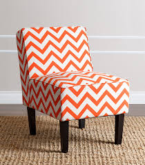 Slipper Chairs Chairs Sasha Slipper Chair Orange Chevron