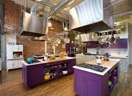 kitchen collection chillicothe ohio purple kitchen with stainless steel features designs ideas and