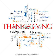 thanksgiving word cloud concept great terms stock illustration