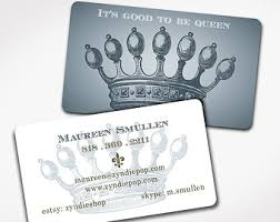 Crown Business Cards 250 Business Cards Etsy
