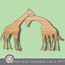 giraffe template online laser cut design store download vector