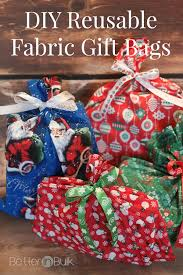 bulk christmas wrapping paper diy reusable fabric gift bags better in bulk fabric gift bags