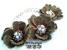 beading flower necklace images 211 best beading flowers images beaded flowers jpg