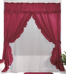 Swag Curtains With Valance Amazon Com Walterdrake Double Swag Shower Curtains With Valance