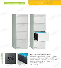 4 Drawer Vertical File Cabinet by Jecams Inc Vfc 4 Drawer Vertical Cabinet