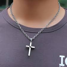 mens christian jewelry yl leather crucifix necklace for mens christian jewelry