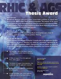 Curriculum Vitae Sample Format Thesis by Thesis Award Competition Rhic U0026 Ags Users U0027 Center At Brookhaven