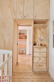 Small apartment decorated with plywood