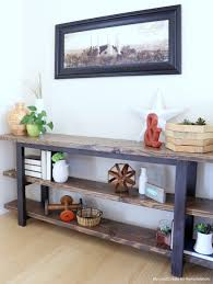 remodelaholic pottery barn inspired modern rustic console table