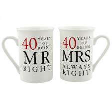 40 year wedding anniversary gift 40th wedding anniversary gifts co uk