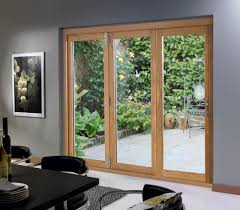Oak Patio Doors Kitchen 5 Panels Oak Folding Patio Doors With Modern Kitchen