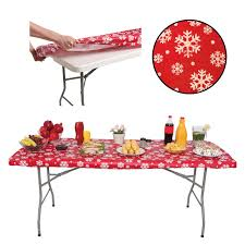 stay put table covers waterproof plastic fitted stay put table cloths covers with elastic