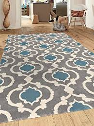 Area Rugs With Turquoise And Brown Rugshop Cozy Moroccan Trellis Indoor Shag Area Rug 5