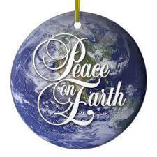 peace earth ornament zazzle