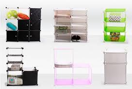 Plastic Cabinets Portable Wardrobe Home Furniture Decorative Cube Closets Stylish