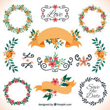 Decoration For Wedding Floral Decoration For Wedding Vector Free Download