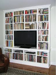 Built In Tv Bookcase Built In Cabinetry For Your Flat Screen Tv Made By Custommade