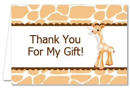 baby shower thank you cards baby shower thank you cards giraffe brown thank you notes