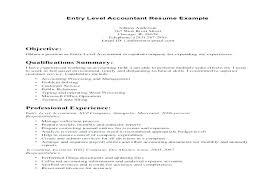 entry level accounting resume exles sle entry level accounting resume