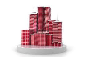 bureau de dessin en b iment bâtiment du gratte ciel 3d illustration stock illustration du