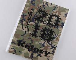 camo photo album camouflage boots etsy