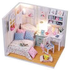 chambre jouet bois filles jouets princesse chambre dollhouse diy assemblée