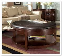 innovative round coffee table with ottomans underneath with coffee