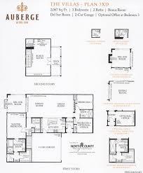 santa fe house plan active adult house plans 55 new homes auberge at del sur villas floor plans
