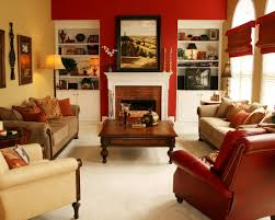 Free Living Rooms  Red And Blue Living Room Decorating Ideas - Red accent chair living room