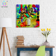 abstract artwork painting flowers from picasso home decor wall
