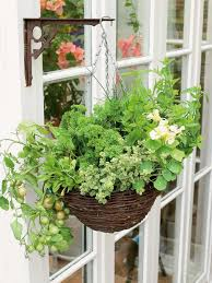 Window Box For Herbs How To Grow Herbs And Vegetables In A Hanging Basket How Tos Diy