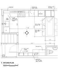 Kitchen Floorplan Kitchen Charming One Wall Kitchen Floor Plans Simple Design