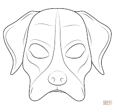 dog mask coloring page free printable coloring pages