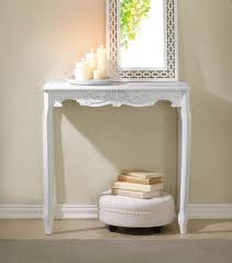 Shabby Chic Hall Table by White Distressed Scallop Detail Hall Table Elegance Shabby Chic