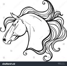 coloring book horse stock vector 491162224 shutterstock
