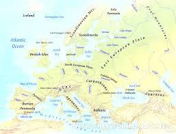 Europe Physical Map by Physical Map Of Europe Mesmerizing Europe Map Seas Evenakliyat Biz
