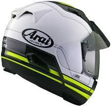 arai motocross helmet arai quantum 2 arai qv pro shade stint integral road white yellow