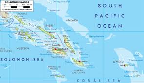Map Of Florida Airports by Large Detailed Physical Map Of Solomon Islands With All Cities And