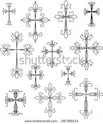 cross design ornament scroll stock images royalty free images